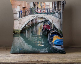Travel Gift, Venice Decorative Throw Pillow Cover, Fine Art Photography Pillow Case, Italy Decor, Venice Pillow, Italy Pillow