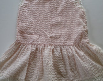 Vintage 1970's Girls Dress-Size 5-Pale Pink-Brushed-Sears-Winnie the Pooh