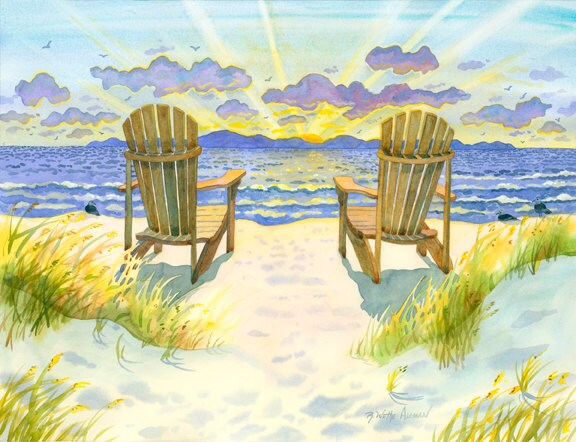 adirondack chairs on beach sunset. Brilliant Chairs In Adirondack Chairs On Beach Sunset O