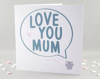 Birthday Card for Mum, Thank You Mum, Card for Mum, Mother Card, Gift for Mum, Mum