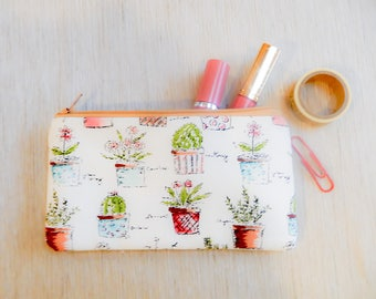 Cactus Make Up Bag/ Gift for Her/ Gift for Mom/ Valentines Day Gift/ Cactus Gift for Women/ Gift for Wife/ BFF Gift/ Sister Gift/ Pouch