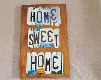 Wall Hanging - License Plate Art