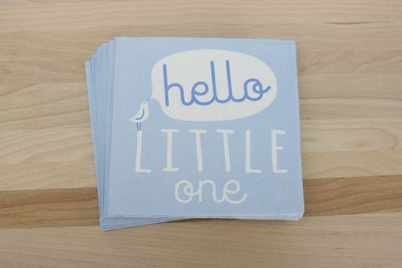 Beverage Napkins, Hello Little One, Baby Shower Napkins, Itu0027s A Boy!, Baby  Boy Shower Decor, Blue And White Baby Shower From IncrediblyCharmed On Etsy  ...