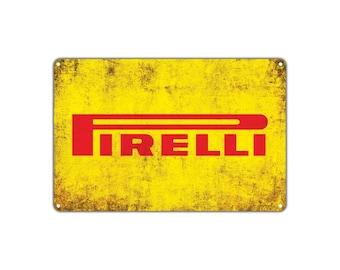 Pirelli Tires Retro Vintage Sign Decor Wall Art Auto Shop Parts Store Garage