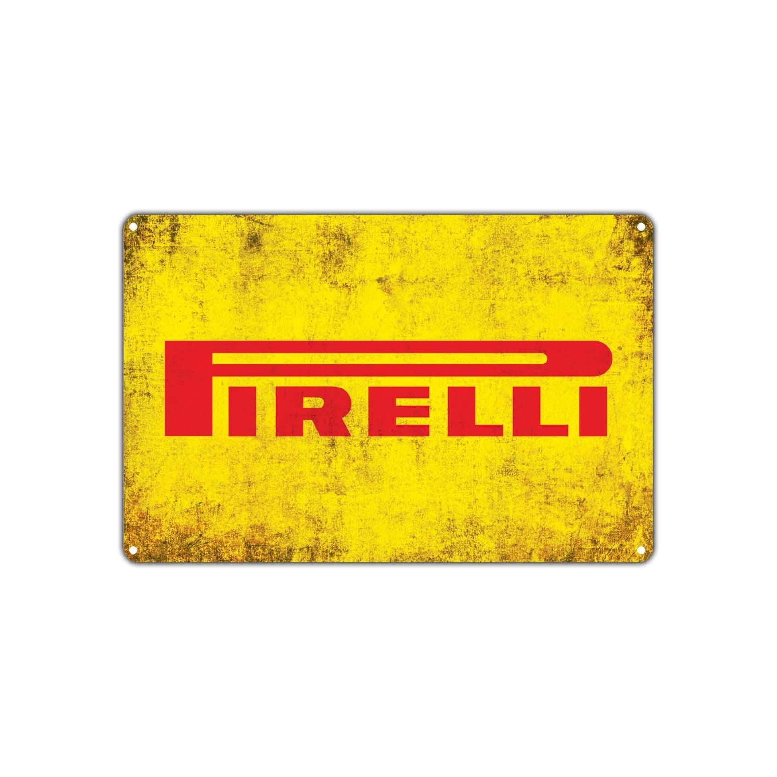 Pirelli Tires Retro Vintage Sign Decor Wall Art Auto Shop