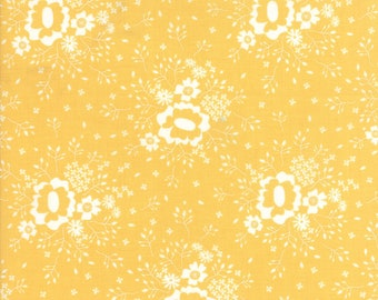 Pepper and Flax - Queen Anne's Lace in Flax Yellow: sku 29042-16 cotton quilting fabric by Corey Yoder for Moda Fabrics