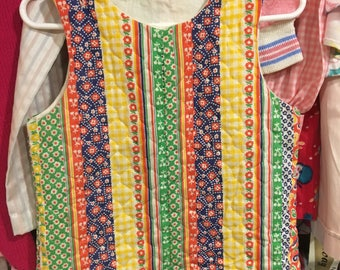 70s Quilted Overalls 18/24 Months