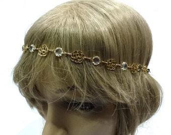 Headband/head decoration / hair - gold jewelry