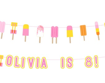 Large Popsicle Banner Printed or Printable