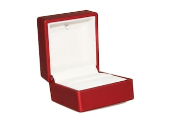 Red Ring Gift Box With LED Light - Light Ring Box Lights Up When Opened - Engagement Proposal