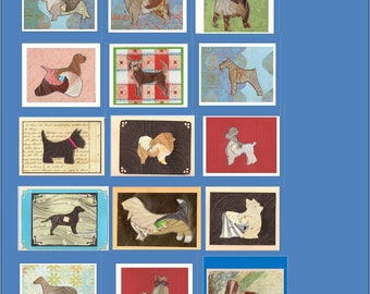 Handmade Dog Breed Folded Card - Unique Cards - All Occasion - Order more than 1 and Save 25 percent - Free Shipping in USA