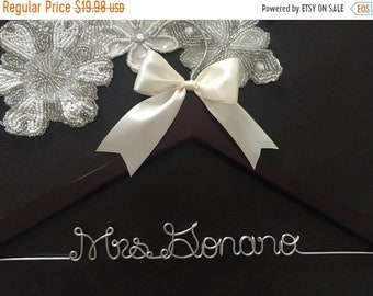 SPRING SALE Wedding Hanger, Bridal Hanger, Personalized Custom Bridal Hanger, Brides Hanger, Bride, Name Hanger, Personalized Bridal Gift