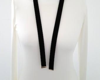 Choker necklace black gold vintage elegant