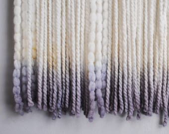 Natural dip-dyed wall weaving