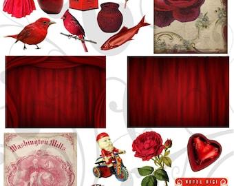 Seeing Red Collage Sheet