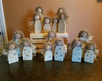 Hand carved wooden Angel sets