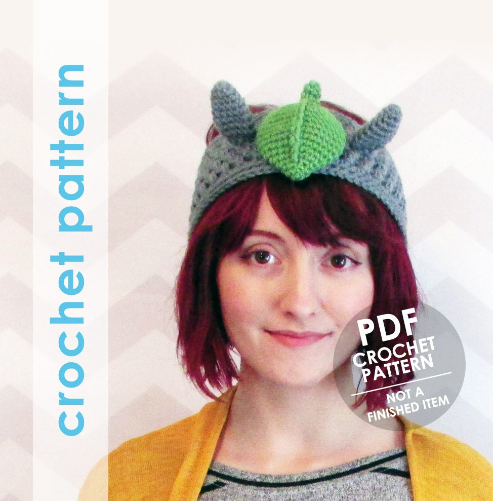 crochet pattern crochet headband pattern totoro headband crochet ...