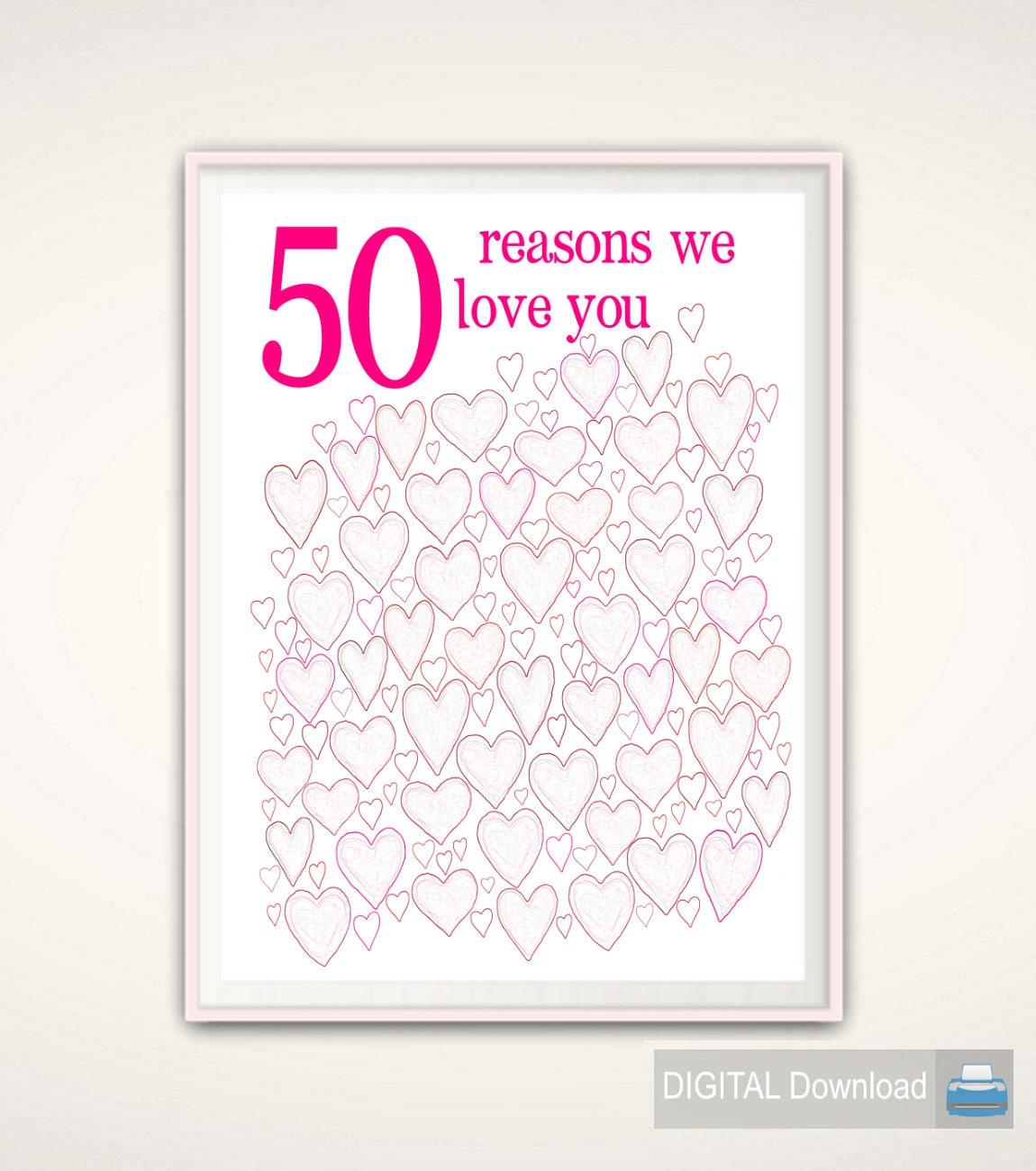 50th Birthday Gift For Women 50th Birthday Poster