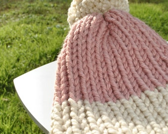 Pink Beige child Hat
