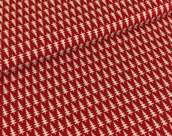 Cotton fabric joyful Christmas Fir cream/red (9,50 EUR / meter)