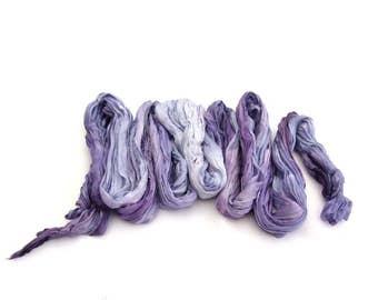 Silk scarf Lavender crinkle ombre purple pastel feminine Amethyst dyed boho fashion spring summer trend colours
