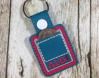 Aldi Quarter Holder, Aldi Quarter  Keychain, Aldi Key Fob, Quarter Keeper, Mother's Day Gift, Teacher Appreciation Gift, birthday present