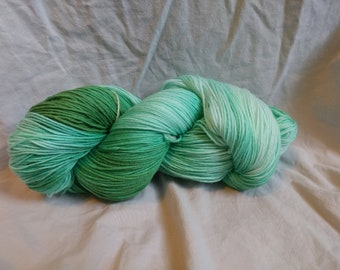 Sea foam, yarn, hand dyed, merino, super wash, crochet, knit