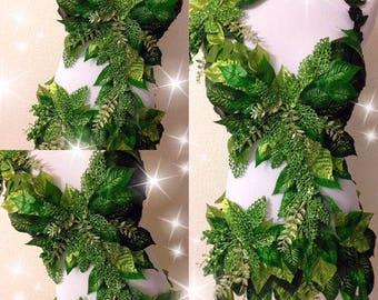 Made to Order! Poison Ivy Monokini | Poison ivy rave bra | poison ivy cosplay | eve | fairy | fairy costume