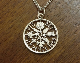1966 Sixpence - Cut Out Coin Necklace
