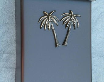 Tropical Palms Coastal Mailbox Oil Rubbed Bronze