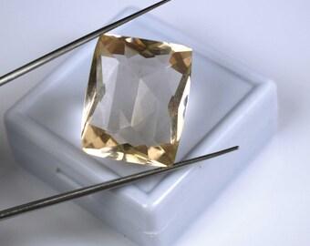 36.45 Ct. Cushion Cut Brazilian Orange Topaz Loose Top Grade Gemstone