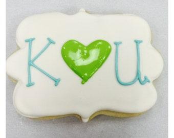 Monogram Wedding Favor Sugar Cookies!