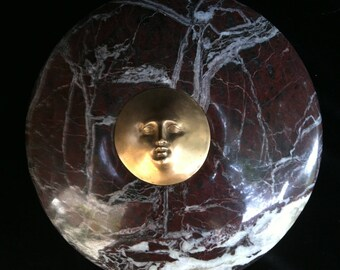 Sun disc in Marble and Bronze