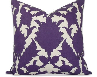 Thomas Paul Silhouette Purple Pillow Cover  - SAME Fabric BOTH Sides - Invisible Zipper