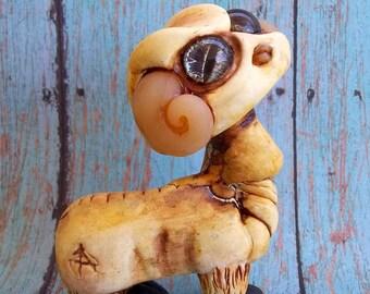 Gordin De RamSee Weird Polymer Clay Sculpture,original art,figurine,knick knack,collectible,Covington Creations