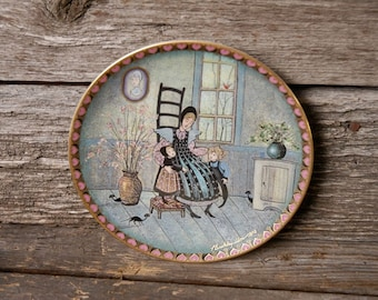 A Precious Moment,  Collectors plate, P Buckley Moss Mother's Day Collectors Plate, Moss Plate