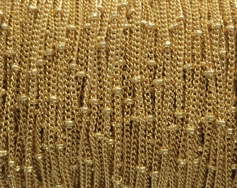 Wholesale Satellite chain, Gold Filled chain satellite 1.2mm curb 1.9mm balls, gold fill chain,  1 3 5 10 20 30 50 100Feet Wholesale 35% Off