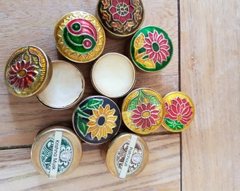 6 Natural Perfumes - Solid Beeswax Perfume With Essential Oils - 6 Fragrance Set
