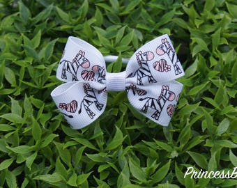 Hair tie,Zebra bow hair tie,Cute hair tie,baby and toddler hair tie