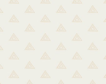 PRE-811 Pearland Gold by Art Gallery Fabrics | White Gold Triangle Fabric