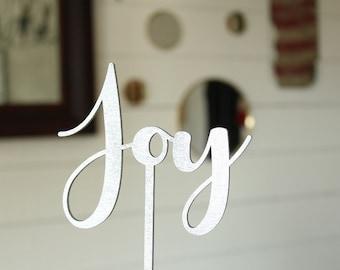 Joy Cake Topper | Christmas Cake Topper |  Holiday Cake Topper | Free Shipping
