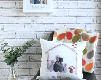 Pebble Art Family Gift Set, Pebble Picture Gift Set, Housewarming Gift Set, Personalised Gift Set, Mother's Day Gift Set, Personalised Gifts