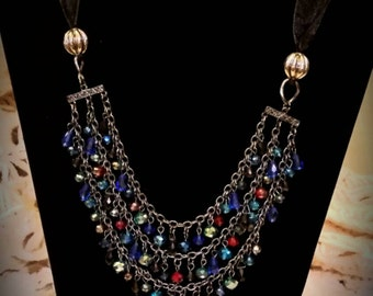 After Life Accessories Repurposed Ribbon Bib to layer, The Paulette  Necklace