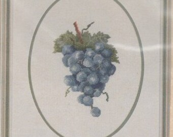 Helen Burgess Counted Thread Design. Grapes Pattern. HB4093.