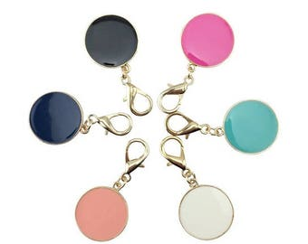 Circle Disc Keychain Monogrammed