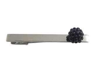 Blackberry Fruit Square Tie Clip