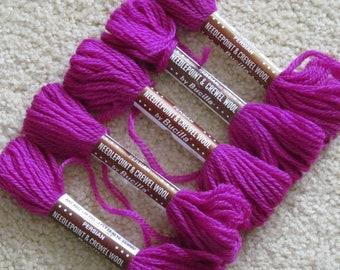 Persian needlepoint yarn - crewel yarn - 100% wool - Bucilla - virgin wool