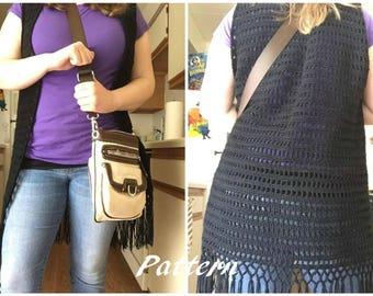 The Adult Avery Vest - Crochet Pattern