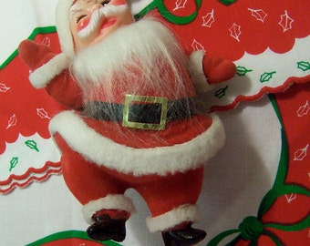 jolly flocked santa