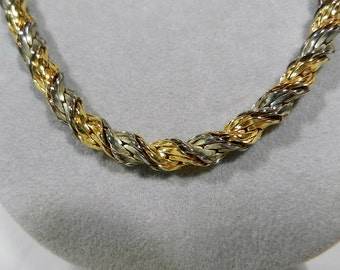 Lady Remington Gold Tone & Silver Tone Twist Necklace, 21 Inches Long